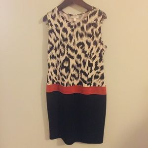 Dress Barn animal print dress. Size 12.